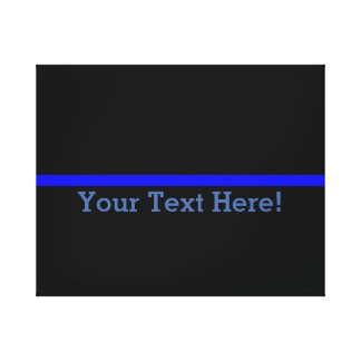 The Symbolic Thin Blue Line Personalize This Canvas Print