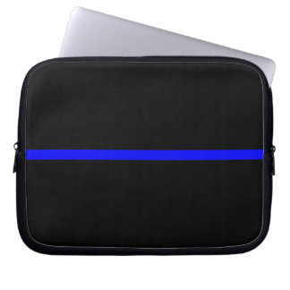 The Symbolic Thin Blue Line Statement Laptop Sleeve