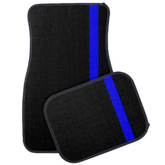 The Symbolic Thin Blue Line Vertical Style Car Mat