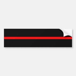 The Symbolic Thin Red Line Decor Bumper Sticker
