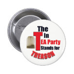 The 'T' In Tea Party Stands for Treason Button