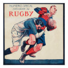 The Tackle - Vintage Rugby Poster