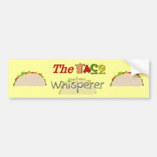 The Taco Whisperer Bumper Sticker