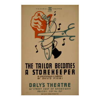 The Tailor Becomes A Storekeeper Vintage WPA Poster