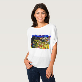 The Taiwan nine 份 it is loose picture T shirt