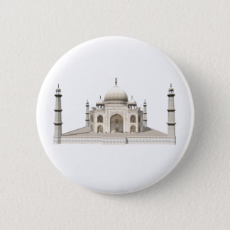 The Taj Mahal: 3D Model: 6 Cm Round Badge