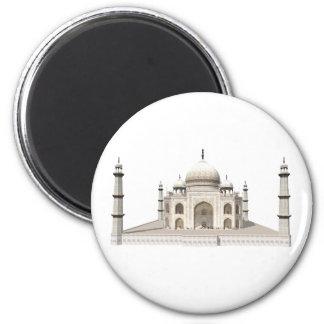 The Taj Mahal: 3D Model: 6 Cm Round Magnet
