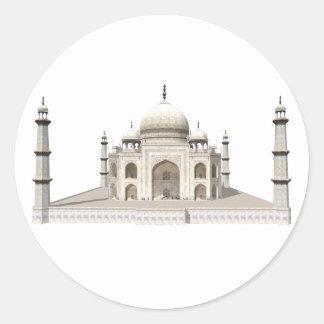 The Taj Mahal: 3D Model: Classic Round Sticker