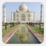 The Taj Mahal, Agra, Uttar Pradesh, India, Square Sticker