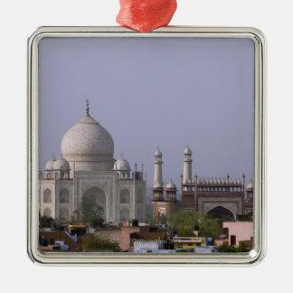 the Taj Mahal dominates the town of Agra Christmas Ornament