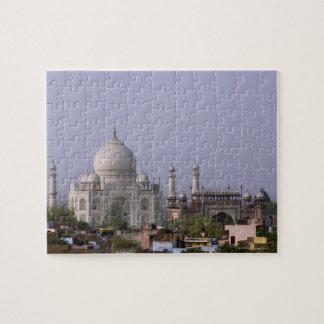 the Taj Mahal dominates the town of Agra Jigsaw Puzzle
