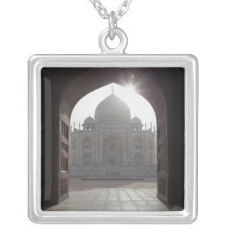 The Taj Mahal framed through the doorway to the Silver Plated Necklace