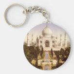 The Taj Mahal in Agra India Basic Round Button Key Ring
