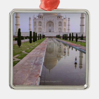 The Taj Mahal perfectly reflected in the still Christmas Ornament