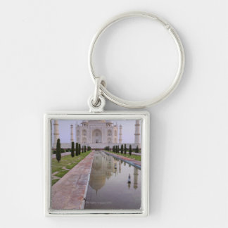 The Taj Mahal perfectly reflected in the still Key Ring
