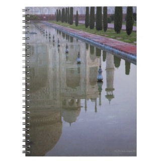 the Taj Mahal perfectly reflected in the still Notebook