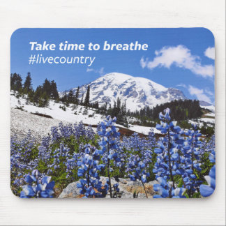 The Take Time to Breathe Mouse Pad