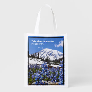 The Take Time to Breathe Reusable Grocery Bag