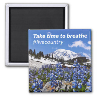 The Take Time to Breathe Square Magnet