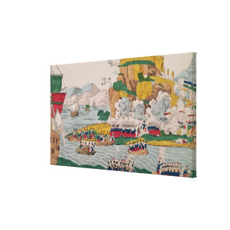The Taking of Algiers by the French Canvas Print