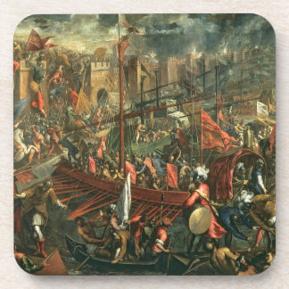 The Taking of Constantinople (oil on canvas) Drink Coaster