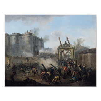 The Taking of the Bastille, 14th July 1789 Poster