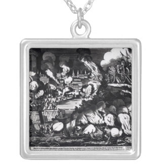 The Taking of the City of Washington in Silver Plated Necklace