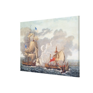 The Taking of the English Vessel 'The Java' Canvas Print