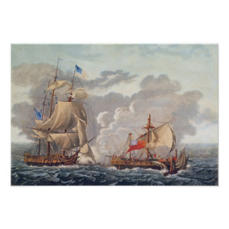 The Taking of the English Vessel 'The Java' Poster