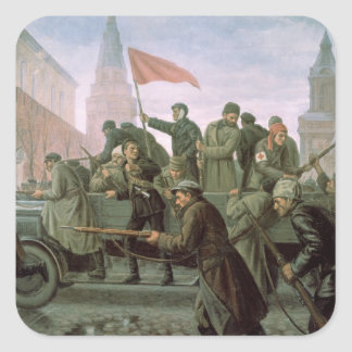 The Taking of the Moscow Kremlin in 1917, 1938 Square Sticker