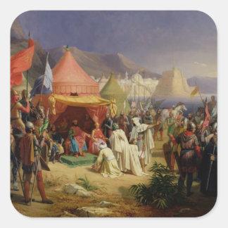 The Taking of Tripoli, April 1102, 1842 Square Sticker