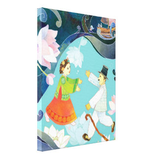 The Tale of Shim Chung Korean Folk Tale Art Gallery Wrapped Canvas