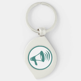 "The ""talking science"" badge Silver-Colored swirl key ring"