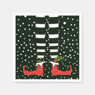 The TALL Elf Christmas Party Paper Napkins Disposable Serviette