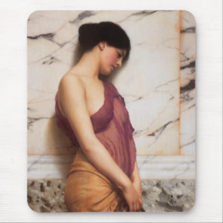 The Tambourine Girl by John William Godward Mouse Pad