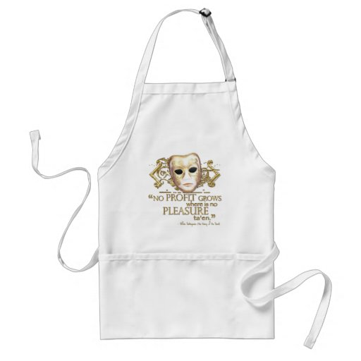The Taming of the Shrew Quote (Gold Version) Apron