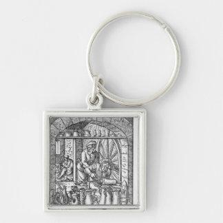 The Tankard Maker Silver-Colored Square Key Ring