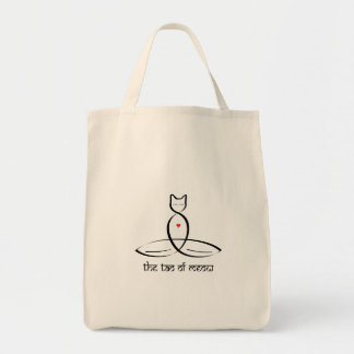 The Tao Of Meow - Sanskrit style text. Canvas Bags