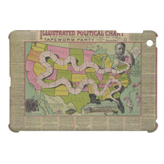 The Tapeworm Party American Political Chart (1888) iPad Mini Case