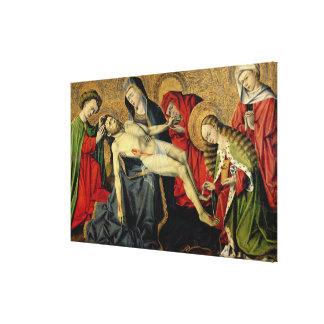 The Tarascon Pieta, Provencal School (oil on panel Canvas Print