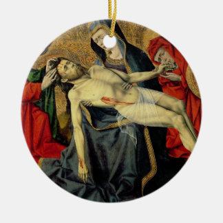 The Tarascon Pieta, Provencal School (oil on panel Round Ceramic Decoration