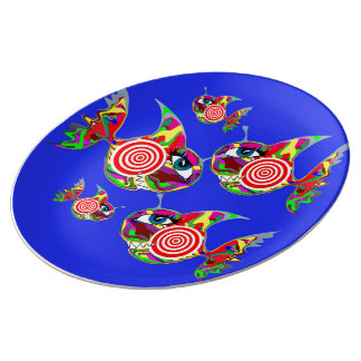 The Target Fish Plate Porcelain Plates