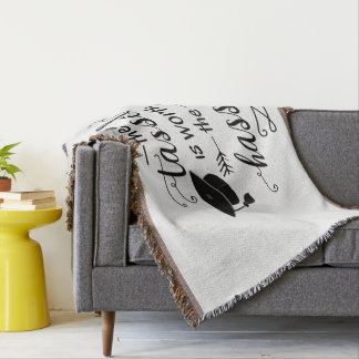 The tassel is worth the hassle throw blanket