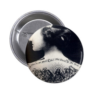 The tattooed flapper - love one another 6 cm round badge