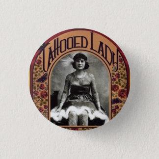 The Tattooed Lady 3 Cm Round Badge