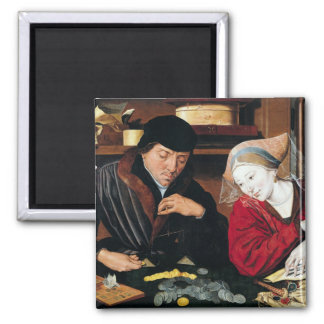The Tax Collector Square Magnet
