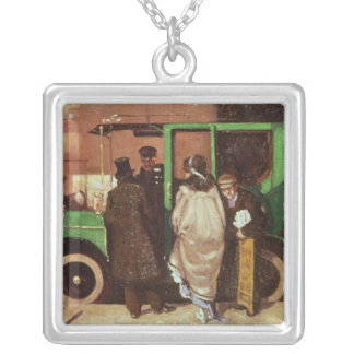 The Taxi Cab, c.1908-10 Silver Plated Necklace