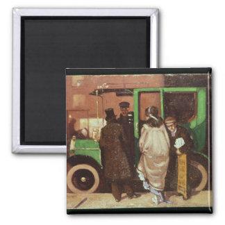 The Taxi Cab, c.1908-10 Square Magnet