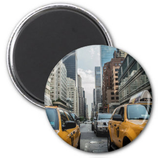 The Taxis of New York 6 Cm Round Magnet