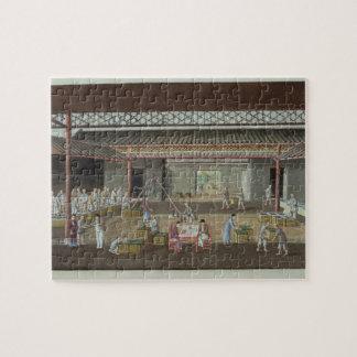 The Tea Depot (gouache on silk) Puzzles